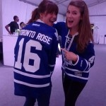 2014 and 2016 Toronto Roses at MLSE event supporting the Toronto Maple Leafs