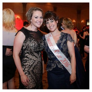 2015 Toronto Rose Erika Healy with 2016 Toronto Rose Petra O'Toole
